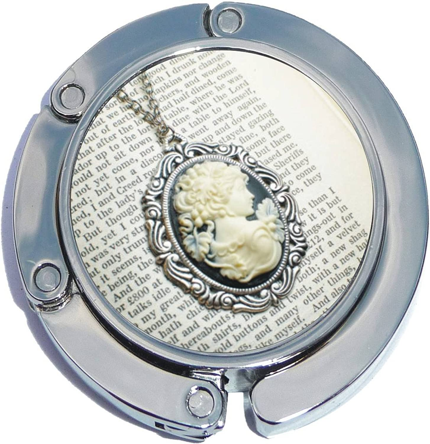 Cameo On Book Foldable Purse Hanger