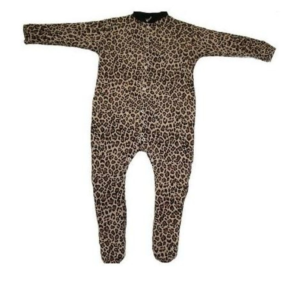 BabywearUK Leopard print sleepsuit - 0-3months - British Made
