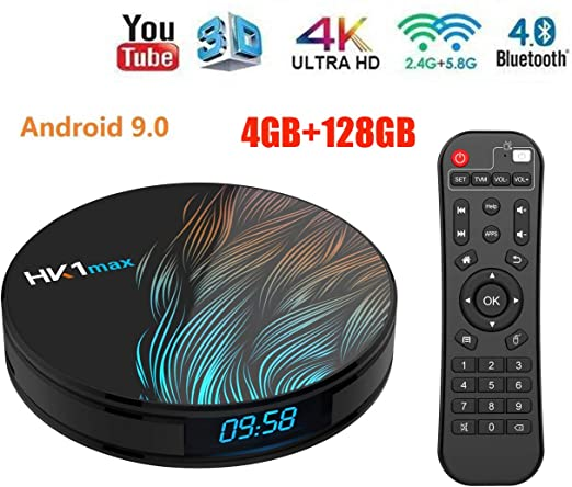 WXJHA Android TV Box 9.0 4 GB 128 GB USB 3.0 RK3318 Ultra HD 3D Box 4K de Doble Banda de 5,8 GHz 2,4 GHz WiFi Bluetooth 4.1Smart transmisión de TV Media Player: Amazon.es: Hogar