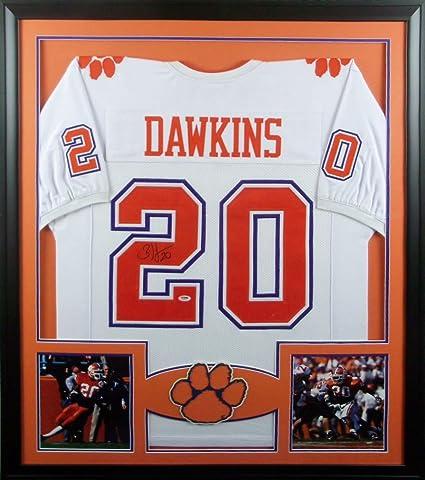 online store 1bab8 6f8a3 Brian Dawkins Clemson Tigers Autograph Signed Custom Framed ...