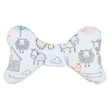 Pink Minky Baby Elephant Ears Neck Support