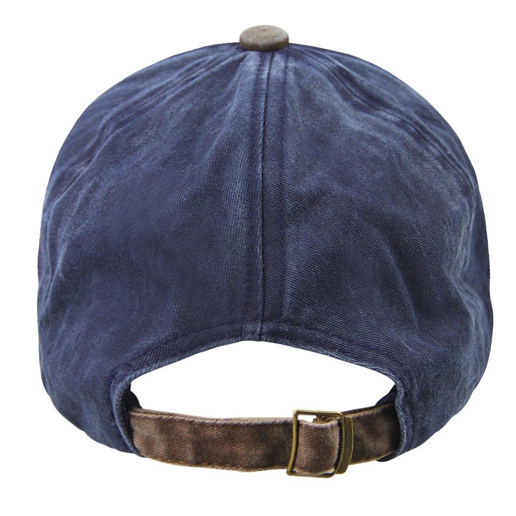 Unisex Algodón Béisbol Gorro Vintage Cotton sombrero Patchwork Caps Letter Distressed Trucker tiene Headwear para deporte golf camping Viajes, ...