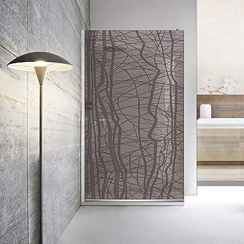 Modern Glass Art Leroy Timeless Manhattan - Mampara de ducha (8 mm, cristal templado de seguridad, nano, acero inoxidable SS304), gris: Amazon.es: Bricolaje y herramientas