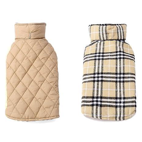 Abrigo de invierno para perro con arnés, orificio, chaleco ...