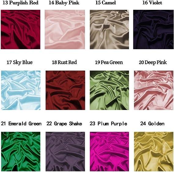 Reddish Orange CH-05 48 Colors F.D.silk 100/% Pure Silk Chiffon Fabric by The Yard