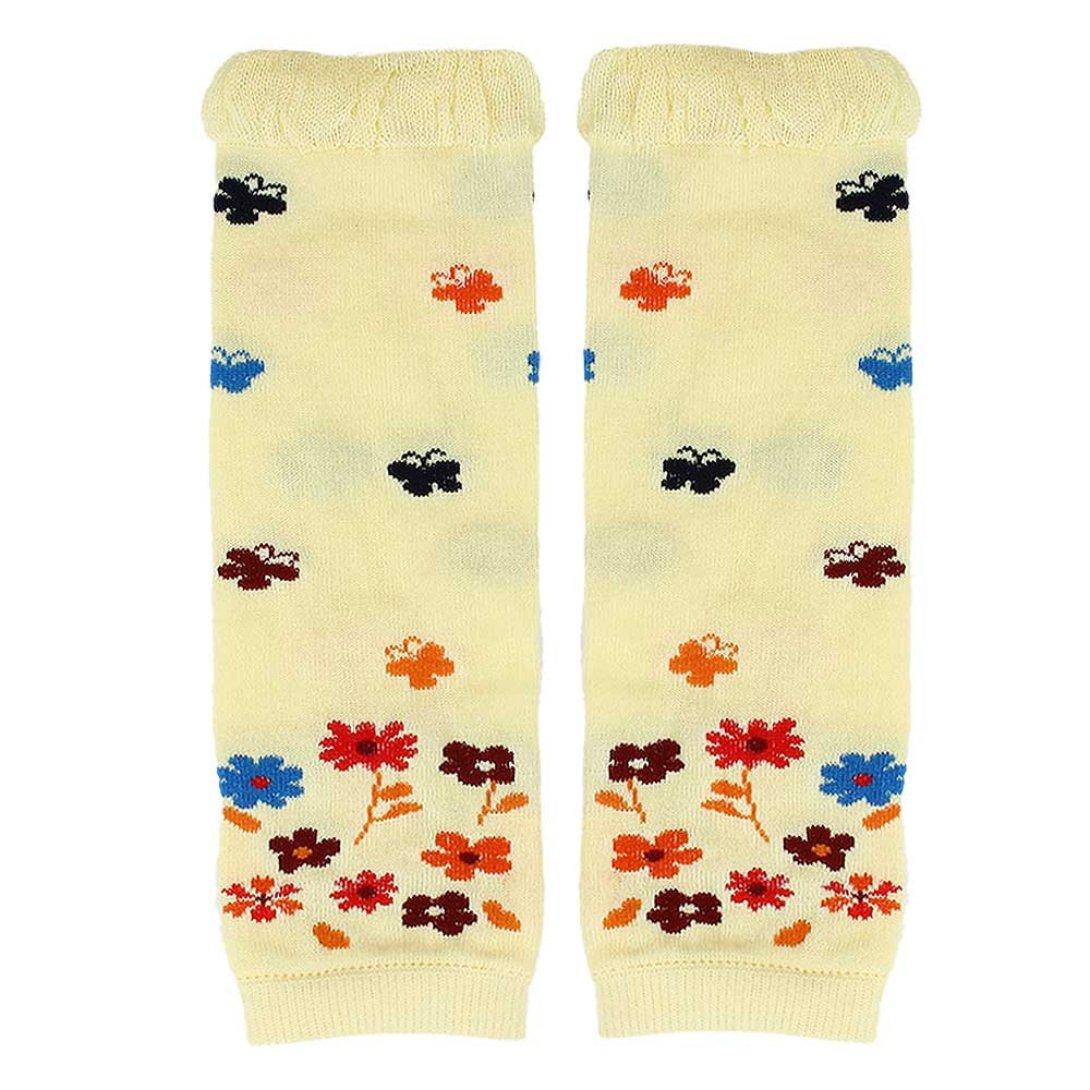 Wensltd Baby Girl Butterfly Flower Kneepad Socks Winter Leg Warmer