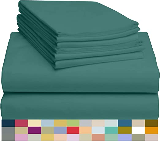 Burgundy Twin LuxClub 4 PC Sheet Set Bamboo Sheets Deep Pockets 18 Eco Friendly Wrinkle Free Sheets Hypoallergenic Anti-Bacteria Machine Washable Hotel Bedding Silky Soft