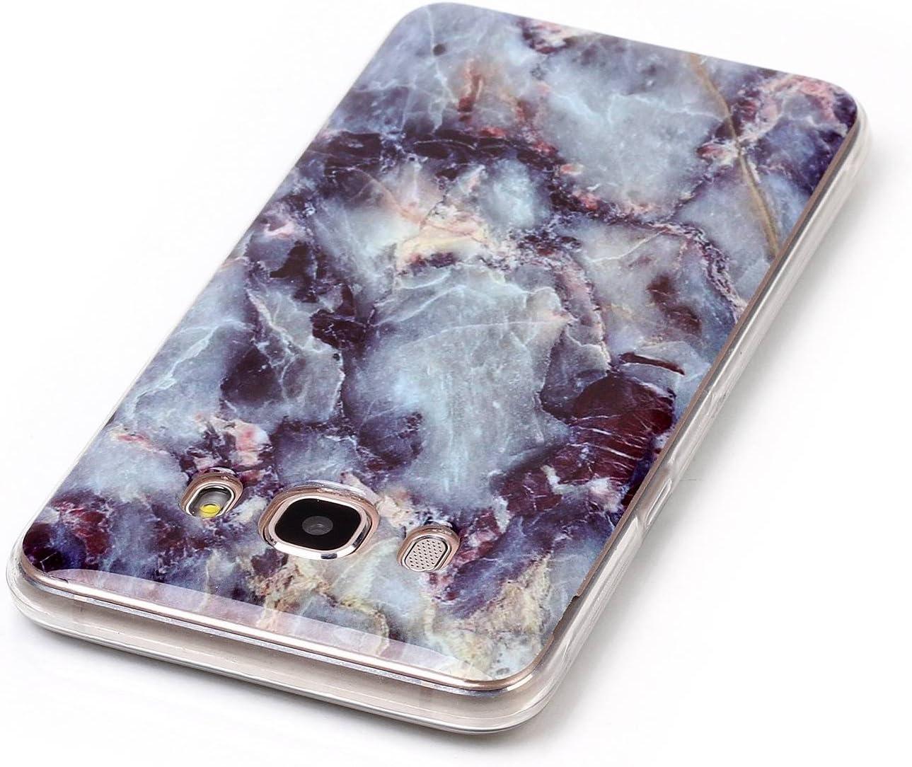 Homikon Silikon H/ülle Marmor Muster TPU Handyh/ülle Ultra D/ünn Matt Weiche Schutzh/ülle Sto/ßd/ämpfend R/ückseite Soft Flexibel Tasche Case Cover Bumper Kompatibel mit Samsung Galaxy J5 2016 #5