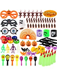 Baztoy Halloween Toys 110 pcs Kids Party Favors, Fun Gifts Fake Bugs Bat Rings Joke Toys Assortment, Bulk Decoration Kits...
