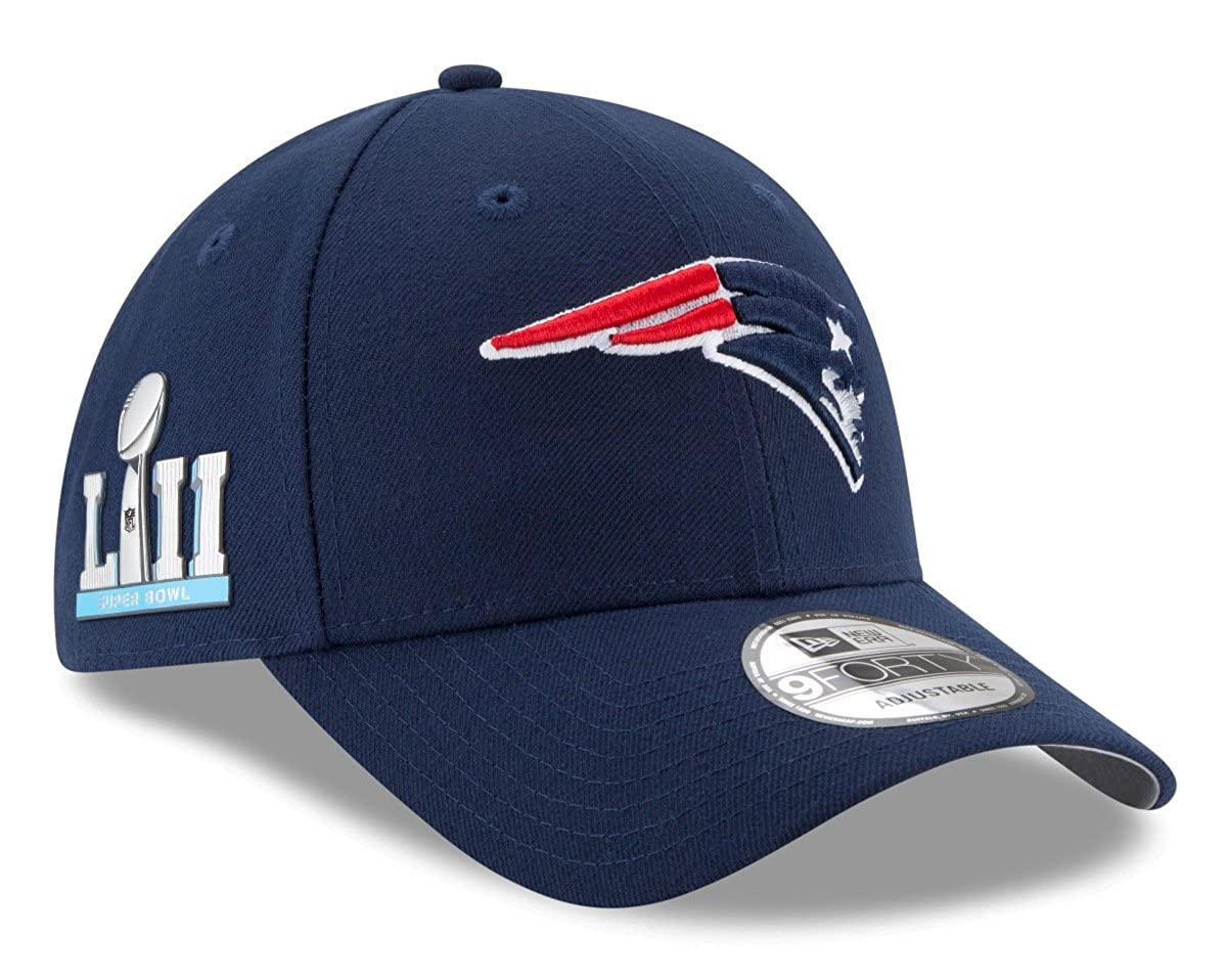 d0cfacbf04902c Amazon.com : New Era New England Patriots 9Forty NFL Super Bowl LII Patch  Adjustable Hat : Clothing