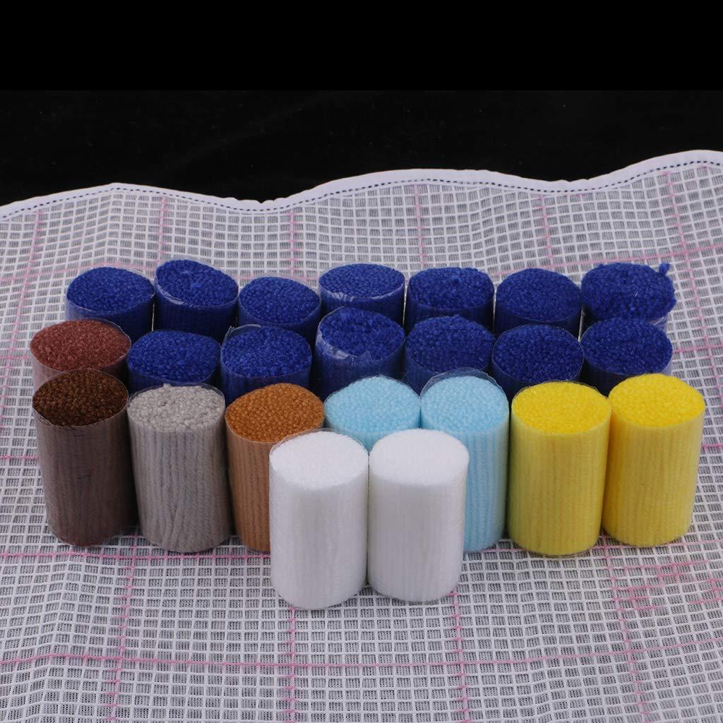 Cat Prettyia Latch Hook Rug Kits Carpet Cushion DIY Needlework Crocheting Embroidery Kit 20 by 14 Inch