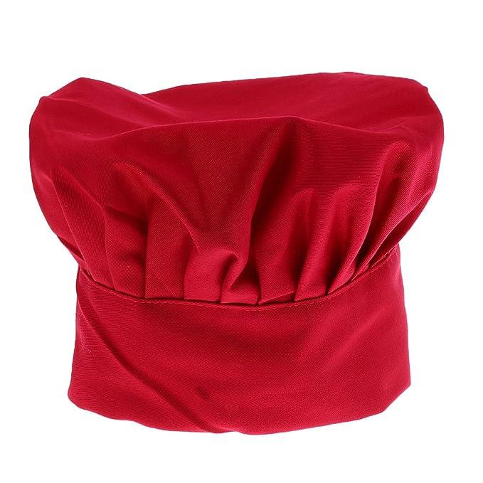 Sombrero De Cocinero Chef Adulto Elástica Panadero Elástica Cocina Casquillo  Del Traje - rojo d9e223eafb5