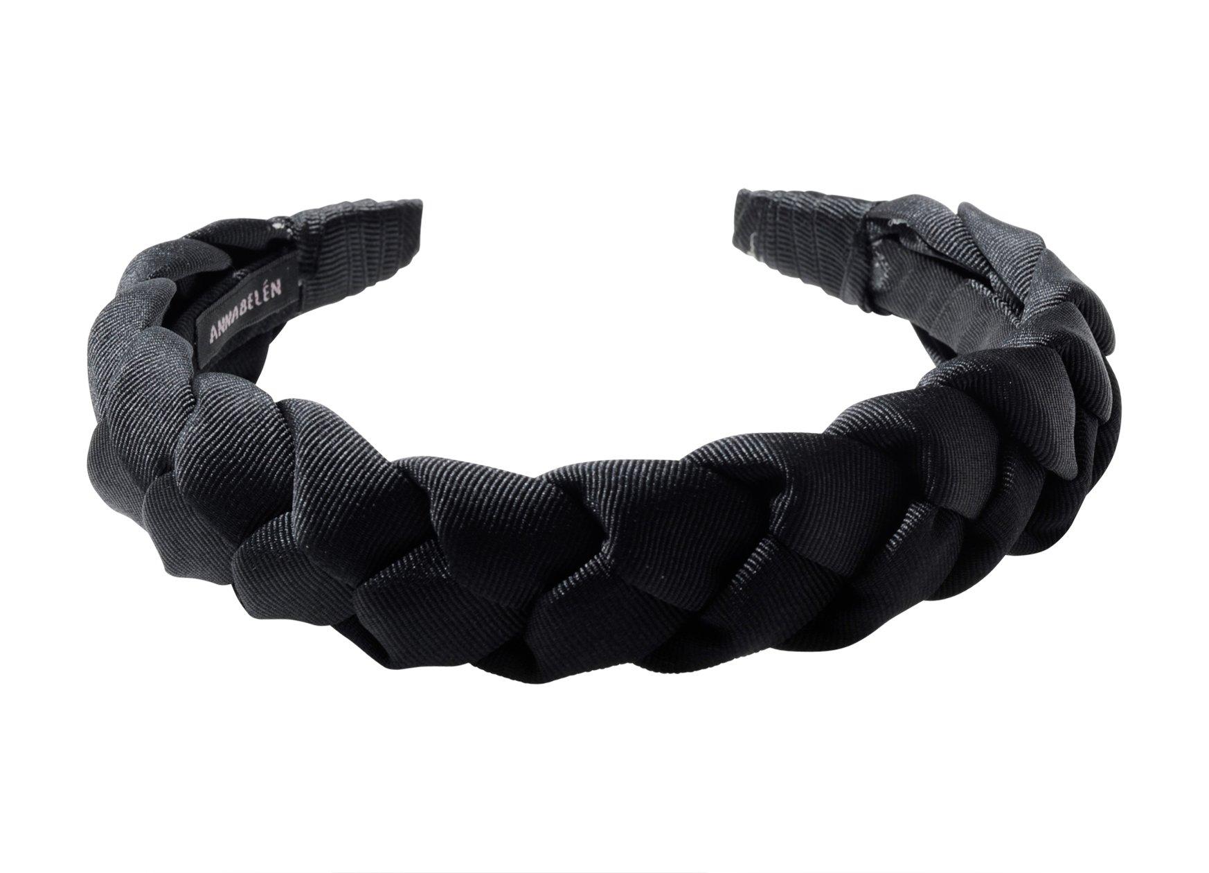 Anna Belen ''Gemma'' Braided Grosgrain Ribbon Headband O/S Black by Anna Belen (Image #2)