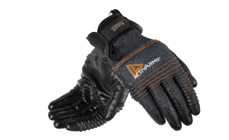 Abrasion Resitance Size L 1-Pair Ansell ActivArmr 97-008 Multipurpose Gloves Medium-Duty