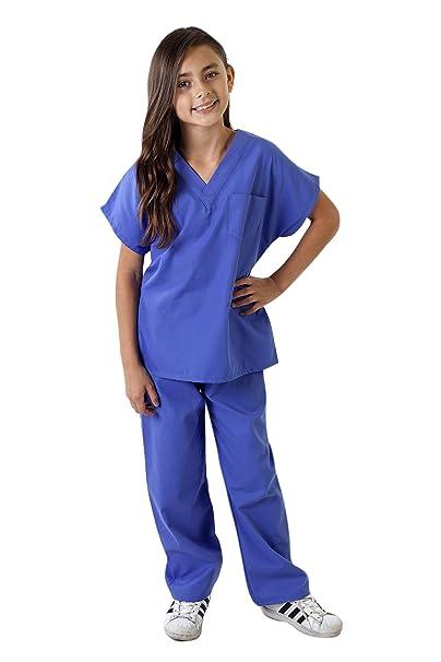 Natural Uniforms niño Touch friegan el sistema-Soft 4 Ceil azul: Amazon.es: Ropa y accesorios