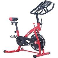 ISE 2019 Neusten Indoor Cycle Ergometer Heimtrainer mit LCD Anzeige,Armauflage,Pulsgurt,gepolsterte,Fitnessbike Speedbike mit flüsterleise Riemenantrieb-Fahrrad Ergometer