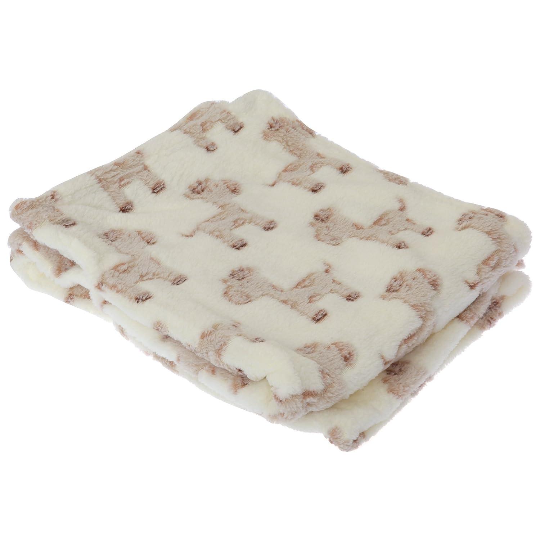 Couverture de poussette à motif cupcake ou girafe - Bébé (73cm x 100cm) (Crème/Girafe) Textiles Universels UTBABY819_2