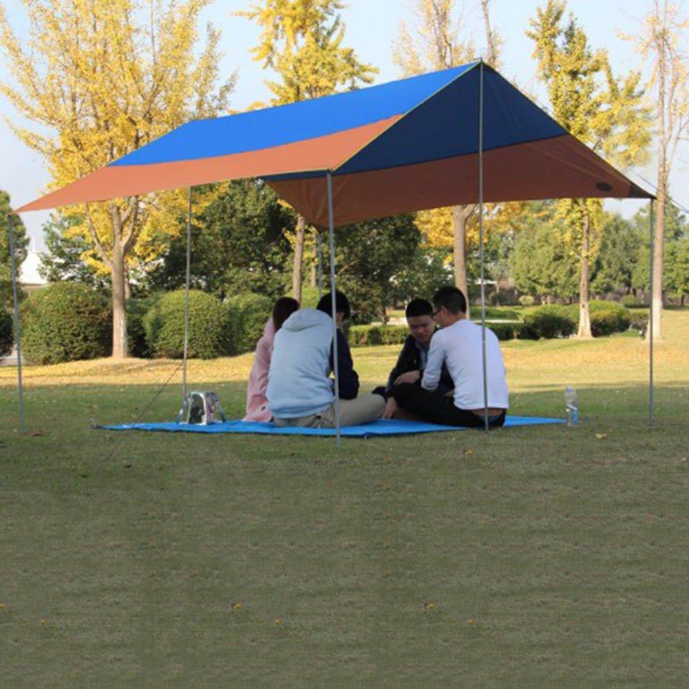 CLDBHBRK Campingplane Unterlegplane Überdachung Draussen Markise Regenfest Sonnenschutz Anti-UV Klappzelt Tragbar Sandstrand Pergola 300  300 cm,Orange