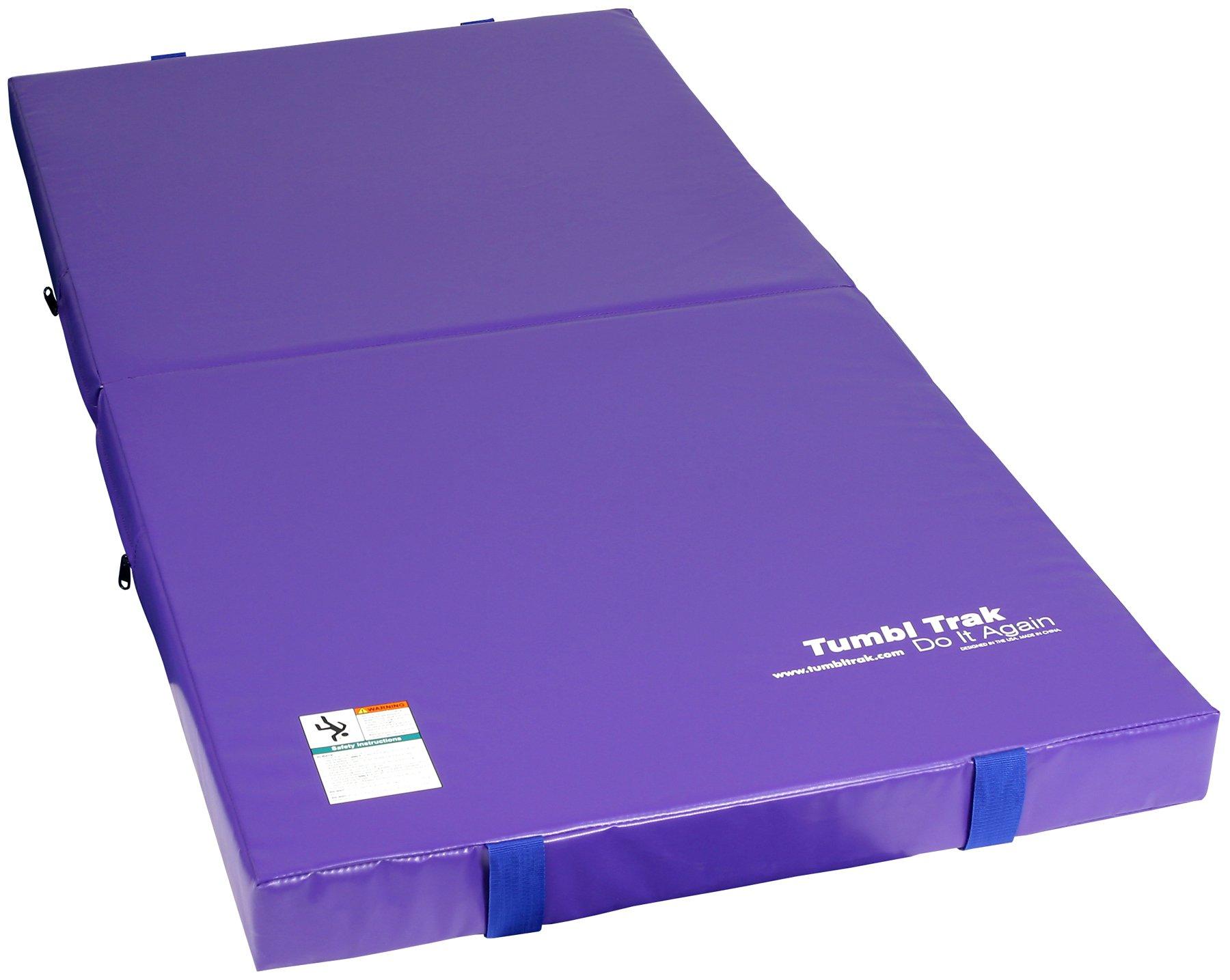 Tumbl Trak Junior Practice Mat, Purple, 3 ft x 6 ft x 4 in