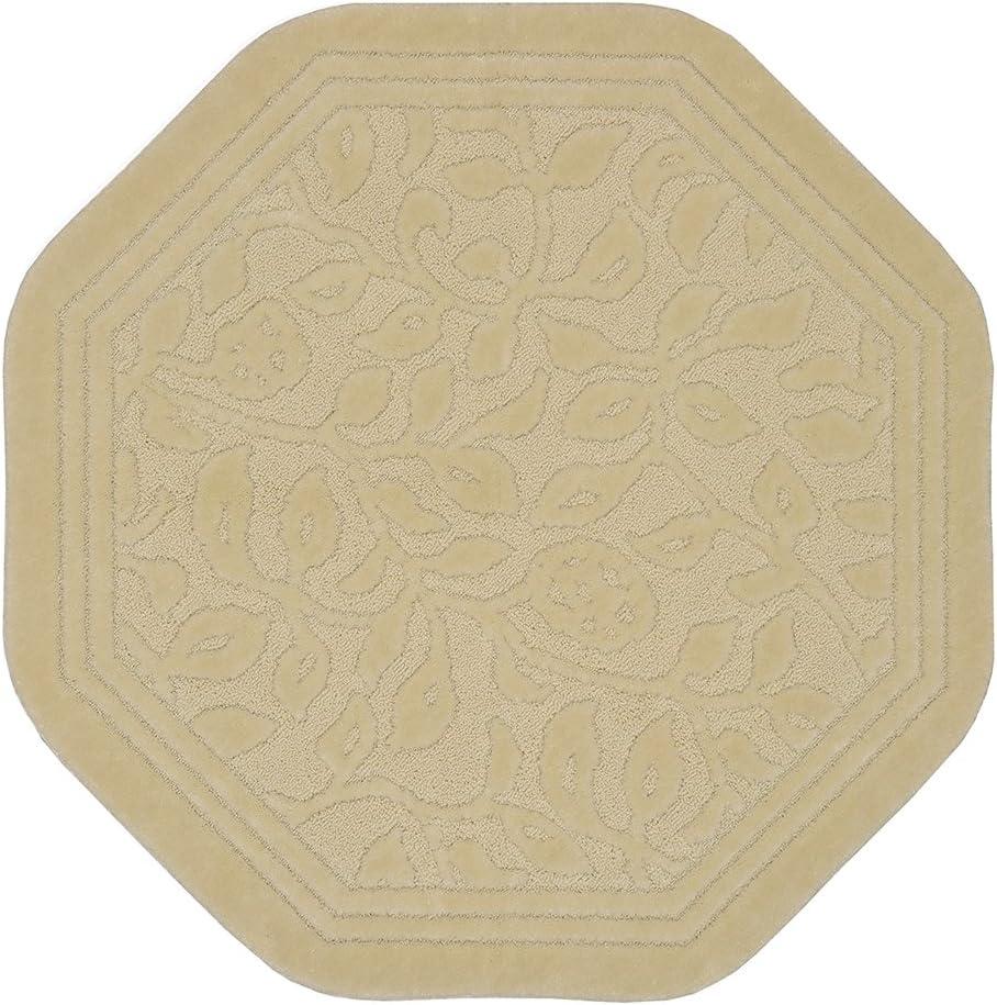 Mohawk Home Wellington Ivory Octagon Bath Mat, 6'x6'