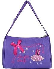 iiniim Girls Ballerina Ballet Dance Bag Kids Travel Duffel Bag Handbag Shoulder Bag with Zipper