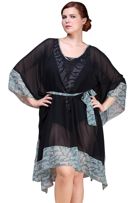 Black MYPASSA Design for Swimwear Women Elegance Summer Sunburn Predection Beach Wear Cover Up Swimsuit Dress