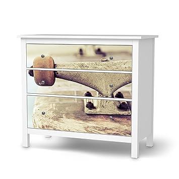 Creatisto Klebefolie Sticker Aufkleber Für IKEA Hemnes Kommode 3 Schubladen  | Möbel Verschönern Designfolie Möbelfolie |