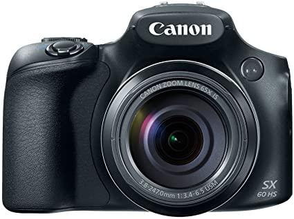 Canon PowerShot SX60-HS 16 1MP Advanced Digital Camera (Black) with 65x  Optical Zoom with Free USB Cable,Free 16GB Card Inside and Camera case