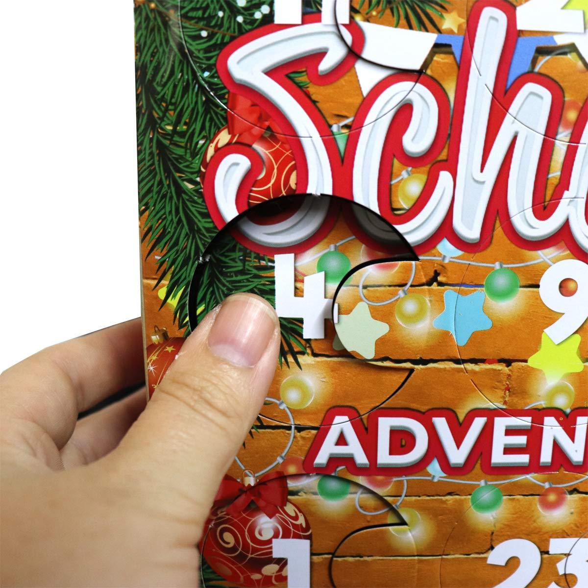 Mehrfarbig Erfurth Fun Adventskalender lustige Dinge One Size