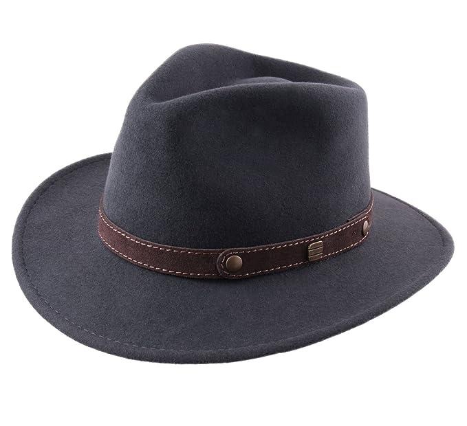 9635e2bafc009 Classic Italy - Sombrero fedora hombre Classic traveller II  Amazon.es   Ropa y accesorios
