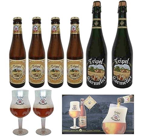 Pack cerveza Karmeliet 2 x 75cl + 4 x 33cl +2 copas + alfombrilla: Amazon.es: Alimentación y bebidas