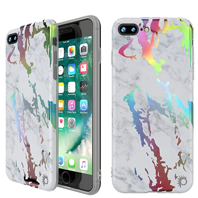 new concept be07d 43baa Amazon.com: Punkcase iPhone 8 Plus Marble Case, Beautiful ...