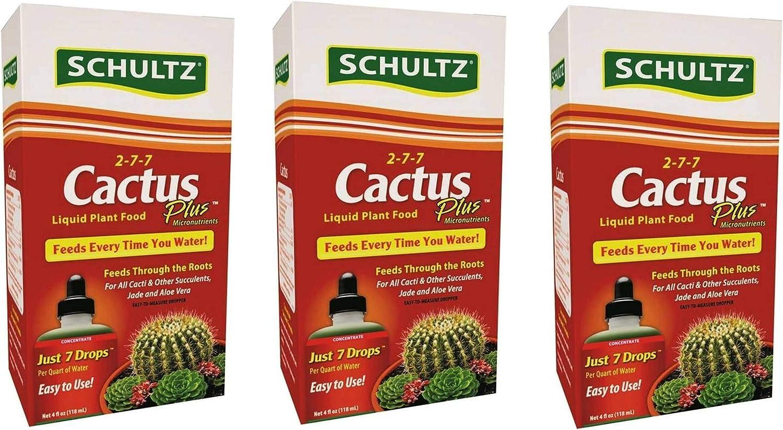 Schultz Cactus Plus 2-7-7 Liquid Plant Food, 4-Ounce, 3 Pack
