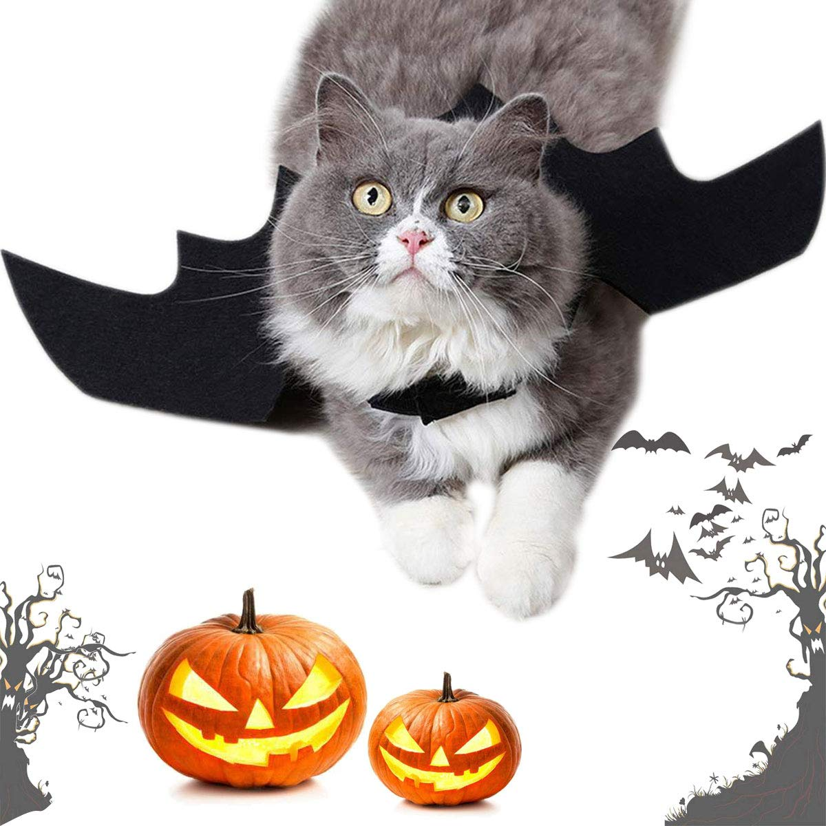 Cat Costume Christmas Pet Bat Wings Costumes Pet Apparel for Small Dogs and Cats Kitty Party Festival GRE1BEE