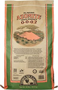 Down to Earth Organic White Azomite Powder for Improving Plant Growth 0-0-0.2, 50 lb