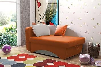 Nila Kinder Mädchen Jungen Stoff Sofa Bett Couch mit Kissen ...
