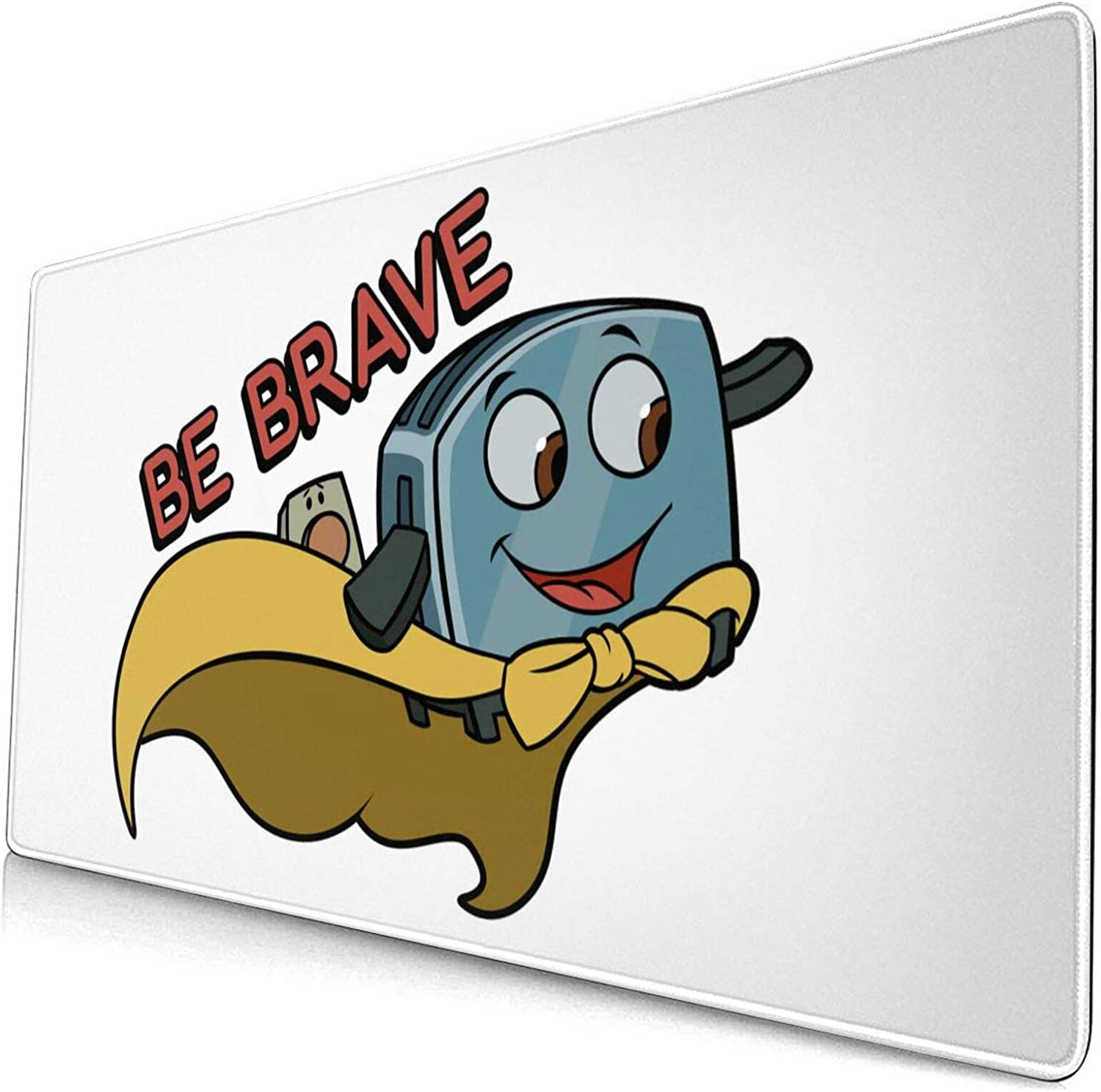 Be Brave Little Toaster Large Game Mouse Pad, Non Slip Rubber Base, Office and Home(40x75cm)