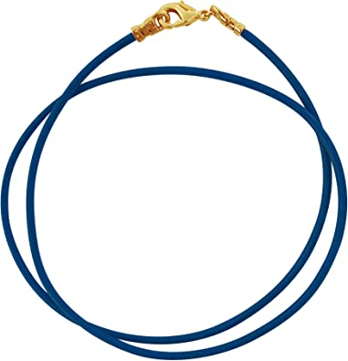 Any Length DragonWeave Sterling Silver 1.8mm Fine Navy Blue Leather Cord Necklace