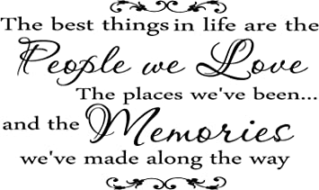 Amazon Com Quote It Family The Best Things In Life Vinyl Wall