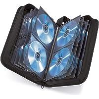 Hama - Estuche porta CD para 80 CD/DVD/Blu-rays, portafolios para guardar CD, negro
