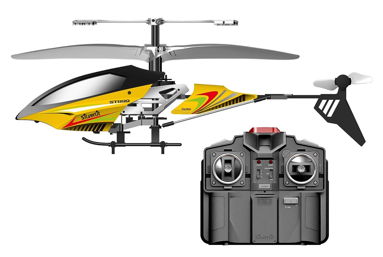 SilverLit Sky Magic - Helicóptero teledirigido (3 canales), color amarillo