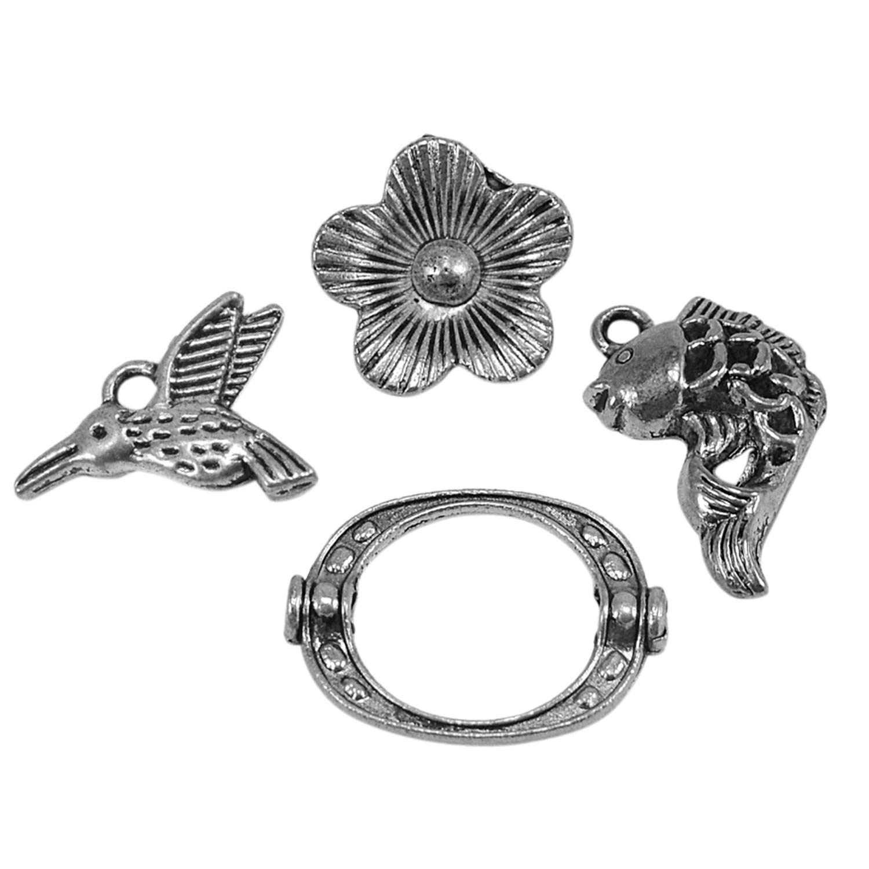 Saamarth Impex Flower /& Bird 925 Silver Plated Jewelry Accessories PG-132764