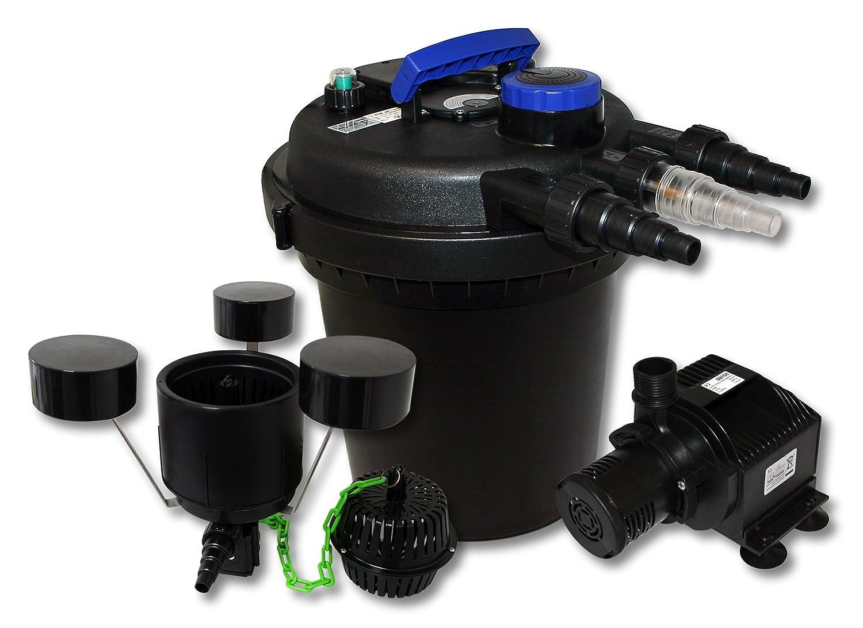 WilTec Kit de filtration à pression bio 6000l Stérilisateur UVC 11W Pompe de bassin Ecumeur 54504