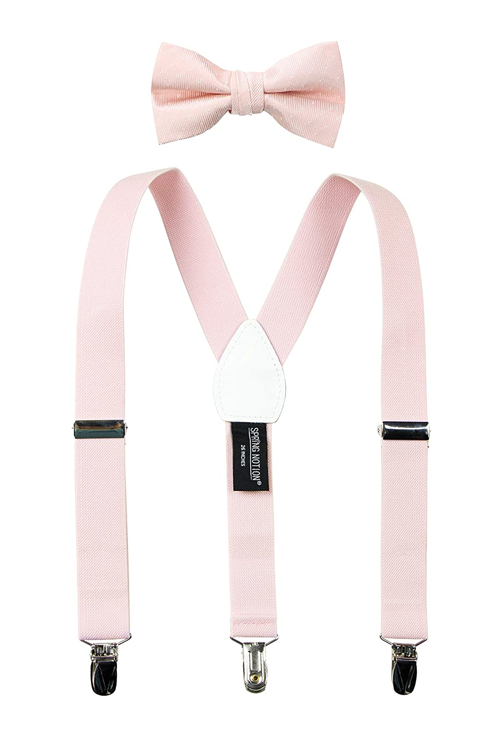 Spring Notion Boys Suspenders and Polka Dot Bow Tie Set