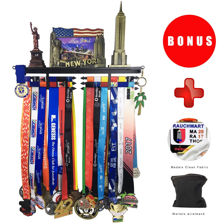 Amazon.com: Medalla percha medalla soporte pantalla para 60 ...
