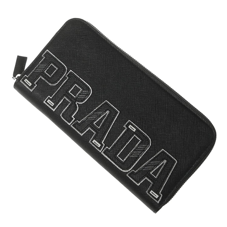 [PRADA(プラダ)] メンズラウンドファスナー長財布(小銭入れ付き)SAFFIANO CHARAC/2ML317 2EC4 ブラック [並行輸入品] B07DG3KKRR