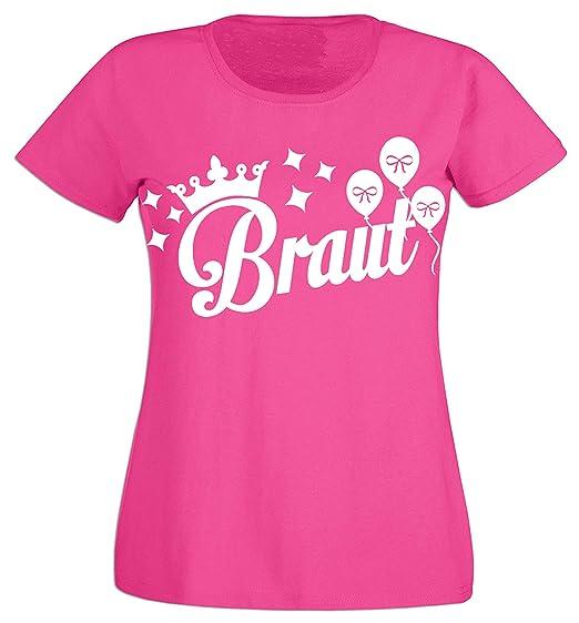 BRAUTSECURITY Junggesellinnenabschied JGA Hochzeit BRAUT Damen T-Shirt pink