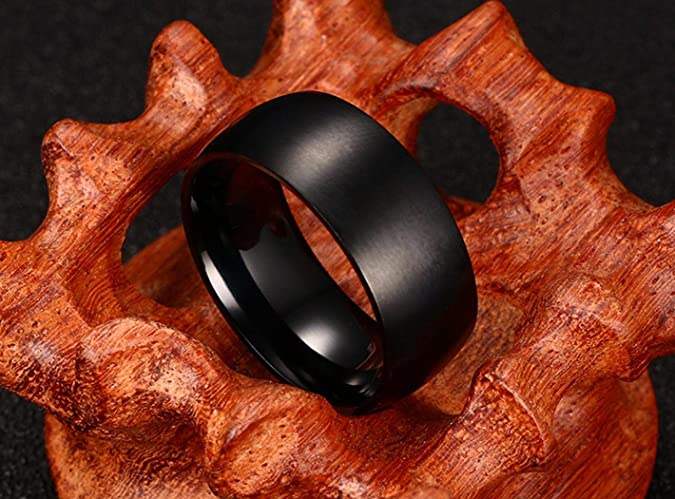 JEWURA Religious Ring Fashion Stainless Steel Ring Simple Rose Gold Cross