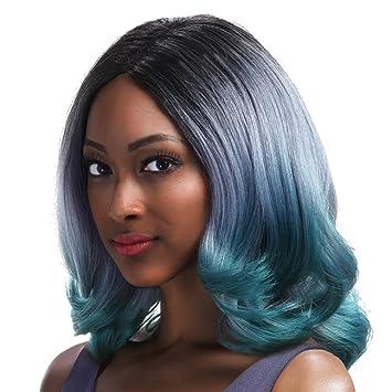 Amazon Com Sleek 18 Shoulder Length V Cut Synthetic Ombre Wig