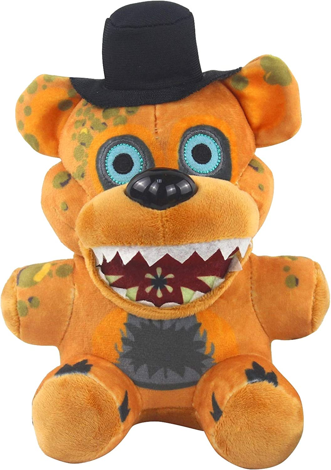 7 Pulgadas Five Nights at Freddy's Foxy Plush,Muñeco de Peluche Cinco Noches en Juguetes de Peluche de Freddy, Freddy Bear Funtime Foxy Chica Bonnie, Muñecas para fanáticos de FNAF Regalos para niños